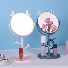 Модное мультяшное настольное зеркало для макияжа с подносом