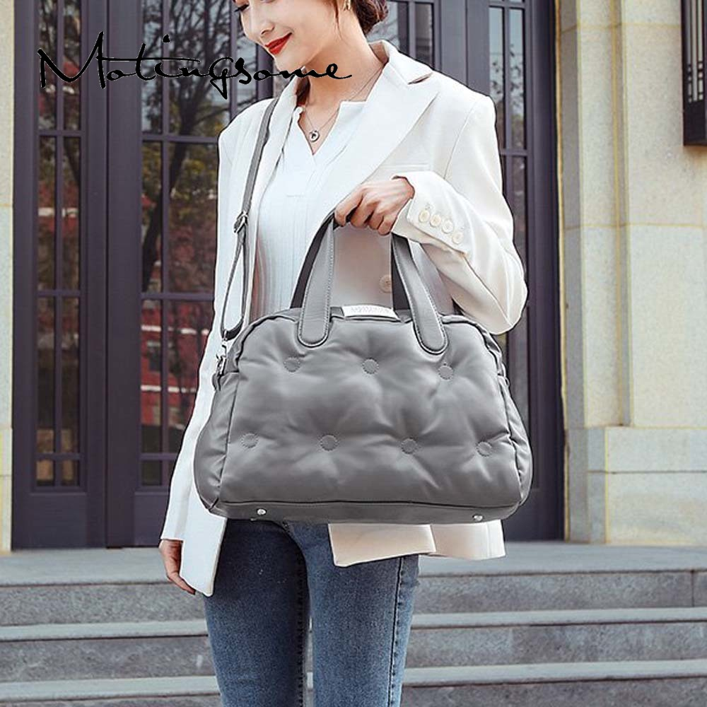 Fashion Space Bag High Quality Women Winter Bag Roomy Down Handbag Luxury Designer Bags for Female Travel Shoulder Tote 2021 New