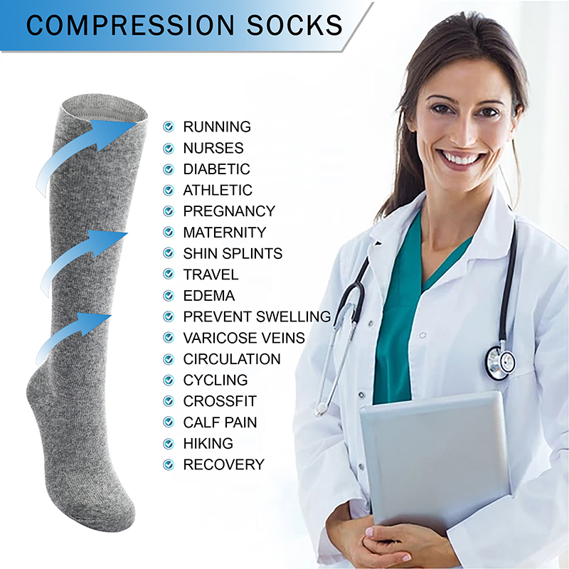 Unisex Medical Compression Stockings Varicose Veins Stockings Men Women Support Knee Stock Female Anti-Fatigue Stretchy Stocking