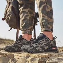 Los hombres transpirable antideslizante zapatos de senderismo al aire libre de los hombres fuera de la carretera zapatillas deportivas de travesía de los hombres de talla grande entrenamiento de senderismo zapatos