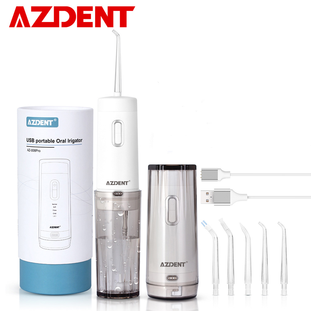 Oral Automatic Irrigator Electric Portable Cordless Water Dental Flosser USB Rechargeable Battery 210ML Tooth Cleaner For Travel