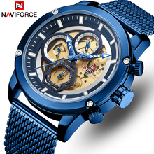 Montre homme NAVIFORCE Top marque Quartz montres de luxe montre militaire homme calendrier montre analogique horloge homme Relogio Masculino