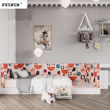 Pink letter pattern children stereo wall stickers custom bedroom bedside bumper soft wall wall nursery decorative wall stickers