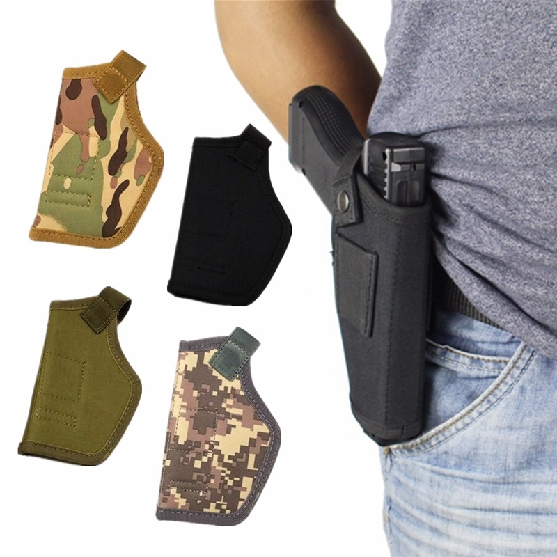 1PCs Tactical Compact Subcompact Pistol Holster Waist Case Gun Bag Outdoor CS Field Invisible Tactical Hunting Accessories