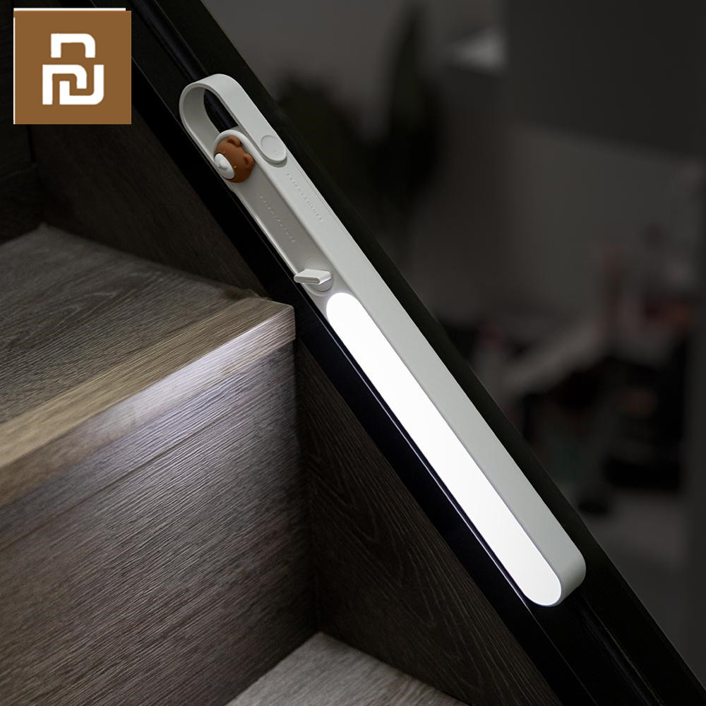 Youpin USB LED Night Light Mini Table Lights Eye Protection Pasteable Light Reading Light With Hooks Kitchen Lamp Corridor Light