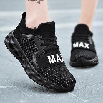 Zapatillas de correr para hombre y mujer, zapatos deportivos transpirables con cordones de alta calidad para caminar al aire libre 1