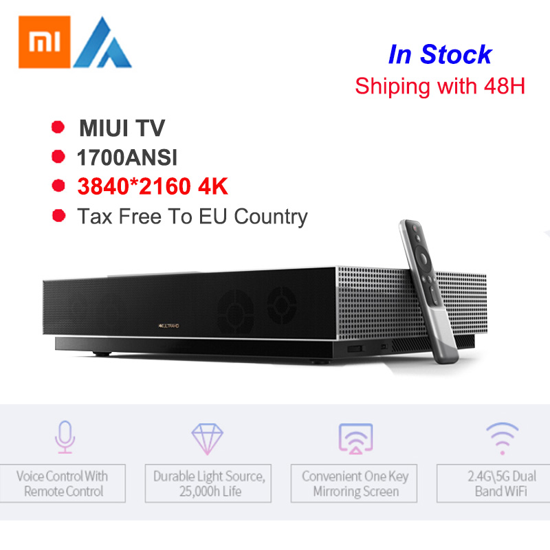 Original Xiaomi Fengmi L176FCN Laser TV 4K cinéma 3840*2160 HD projecteur 2GB + 64GB MIUI TV Support 3D 1700ANSI Laser projecteur