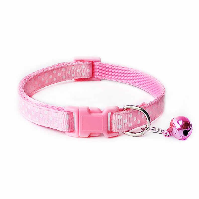 1PC nylonowe szelki dla psa i kota z dzwonkiem zwierzęta śliczne moda łapa pies kot szczeniak urok regulowany piękny obroża bezpieczeństwa Polka Dot smycz