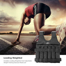 Running Jackets 20/50kg Max Loading Adjustable Weighted Vest Fitness Training Exercise Waistcoat Weight Body Building