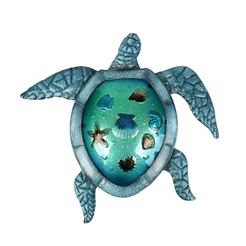 Turtle Metal Wall Artwork For Garden Decoration Outdoor Statues And Animal Miniatures Accessories Sculptures