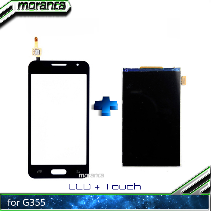 100% Tested <font><b>4.5</b></font> <font><b>Inch</b></font> <font><b>LCD</b></font> for Samsung Galaxy Core 2 SM-G355H G355H G355 <font><b>LCD</b></font> Display <font><b>with</b></font> <font><b>Touch</b></font> Screen Assembly Repair Parts image