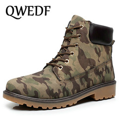 QWEDF Men Boots 2019 Timber Boots Men Winter Shoes High Quality non-slip Suede Leather Ankle Boots Plus Size 45 46 DP-86