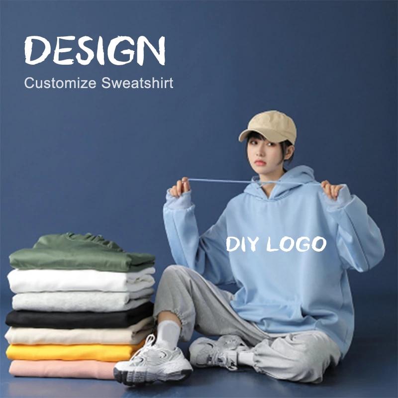 Permalink to Women's Oversize Hoodies Solid Hooded Sweatshirt Plus Size O-neck Female 2020 Autumn Couple Sweatshirts DIY Customize Print