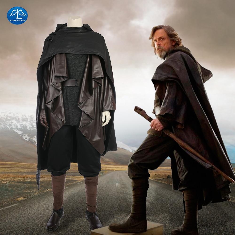MANLUYUNXIAO New Star Wars The Last Jedi Luke Skywalker Costume Men Halloween Luke Skywalker Cosplay Costume For Men Custom Made zwbra shower curtain