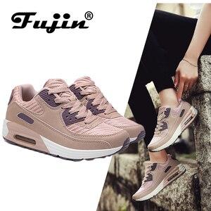 Image 1 - 2020 fujin springfashion sapatos femininos casuais sapatos tenis feminino luz respirável malha sapatos plataforma senhora tênis