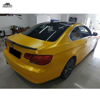 For bmw 3 series coupe 320i 330i 335i 2006 - 2013 M4 style carbon fiber rear trunk spoiler lip E92 M3 cf styling back wing image