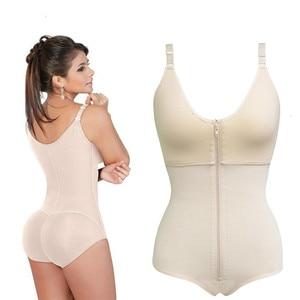 Image 2 - Women Plus Size 6XL Shapewear Body Shaper Slimming Waist Trainer Tummy Control Bodysuit Postpartum Recover Underwear Corset Butt