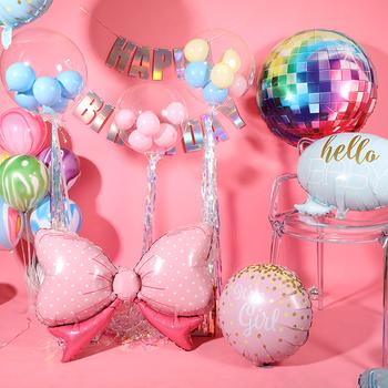 Baby Shower z balonów foliowych Baby Girl Baby Boy to dziewczyna to chłopiec Hello Baby balon z helem Bow Ballonnen Kids Party Ballons tanie i dobre opinie HAIMAITONG CN (pochodzenie) Łuk FOLIA ALUMINIOWA Ślub i Zaręczyny Chrzest chrzciny Na Dzień świętego Patryka Wielkie wydarzenie