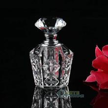 Винтажный пустой многоразовый стеклянный флакон для духов, Заглушка с бриллиантом, подарок