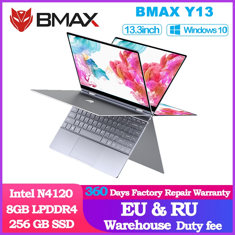 BMAX Y13 360° <font><b>Laptop</b></font> 13.3 inch Notebook Windows 10 8GB LPDDR4 256GB SSD 1920*1080 IPS Intel N4120 <font><b>touch</b></font> <font><b>screen</b></font> <font><b>laptops</b></font> image