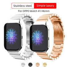 Ремешок из нержавеющей стали для oppo watch band 41 мм/46 мм