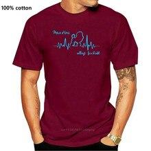 Baumwolle T-Shirt Mode T-shirt THEART T-Shirt Hunde Hund HERZSCHLAG PUDEL mein Herz Siviwonder T Hemd