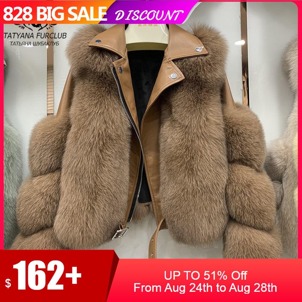 Fashion Real Fox Fur Coats With Genuine Sheepskin Leather Wholeskin Natural Fox Fur Jacket Outwear Luxury Women 2020 Winter New|Real Fur| - AliExpress