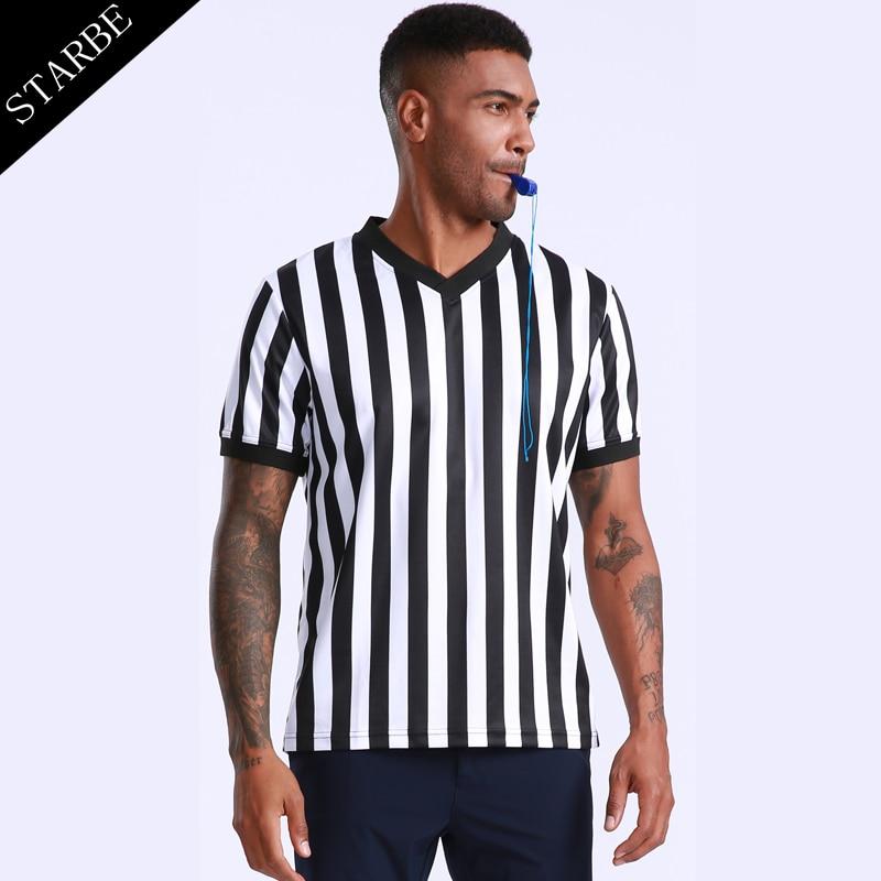 High Quality Dry Fit Eyelet Polyester V-neck Referee Shirt