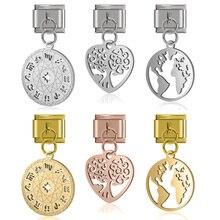 Charm Bracelet Jewelry-Making Stainless-Steel Heart-Tree Fyour DJ237 12-Constellation