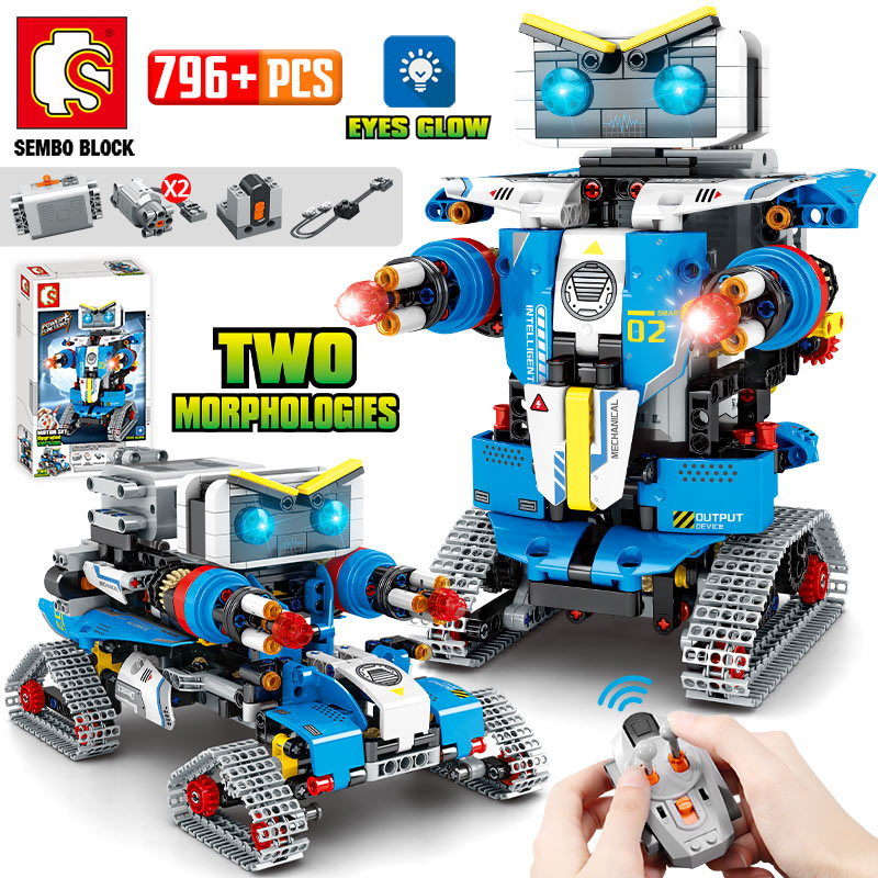 NEW City Technic RC Robot Transformation Racing Car Building Blocks Creator Remote Control Robot Weapon Bricks Toys For Children
