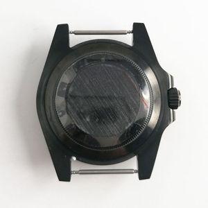 Image 3 - 最新のホット 40 ミリメートルパーニスステンレスブラック pvd ケース硬化ミネラルサファイアガラスフィット 2828 2836 miyota 82 運動メンズ時計ケース