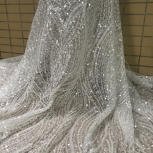 Lace-Fabric Wedding-Lace African Beaded Sequins Embroidered And Fabric-Jianxi.c-62903