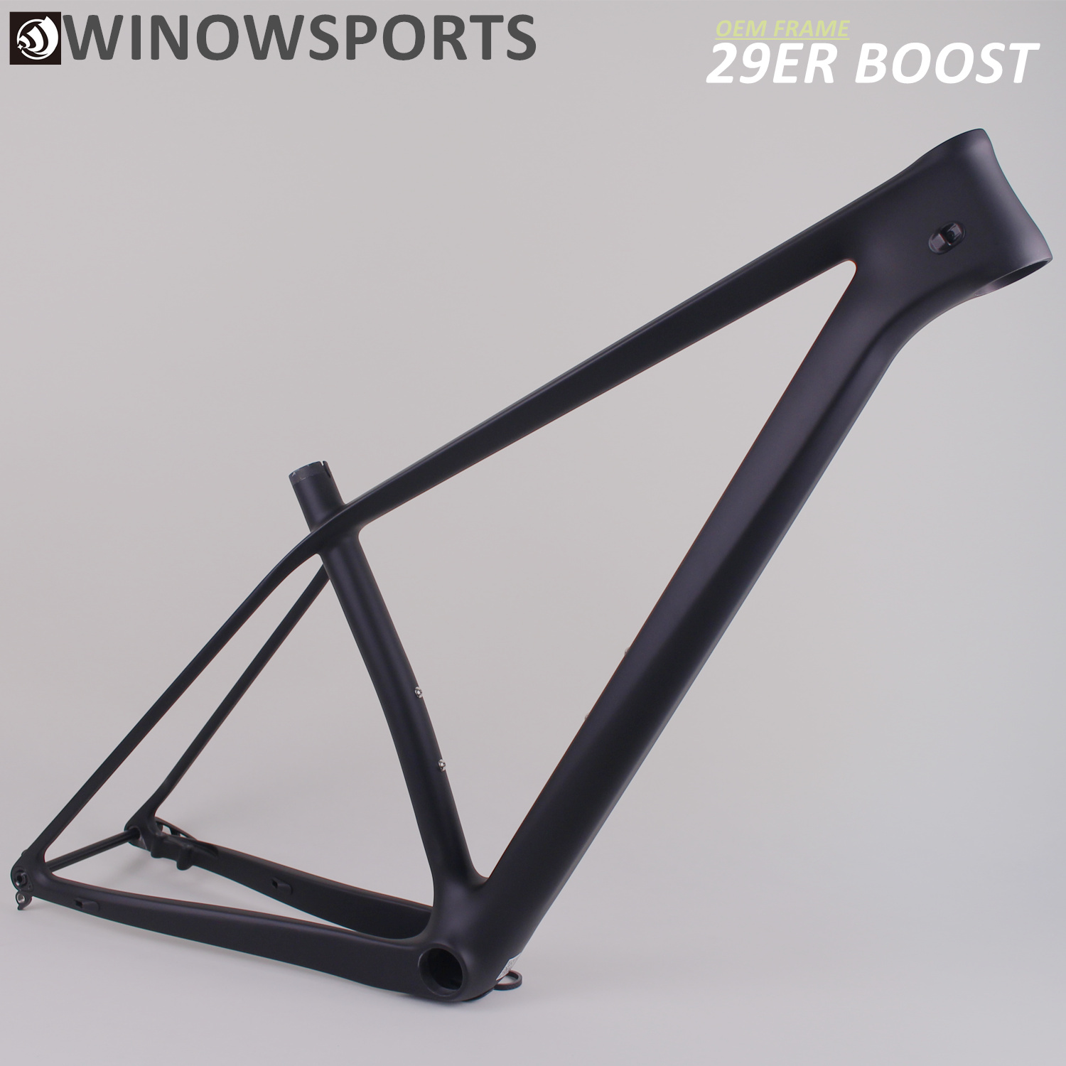 Winowsports UD Black Matte Carbon mtb frame 29er factory <font><b>oem</b></font> design scott-e boost 29 inch 148mm rear spacing carbon <font><b>bike</b></font> frame image