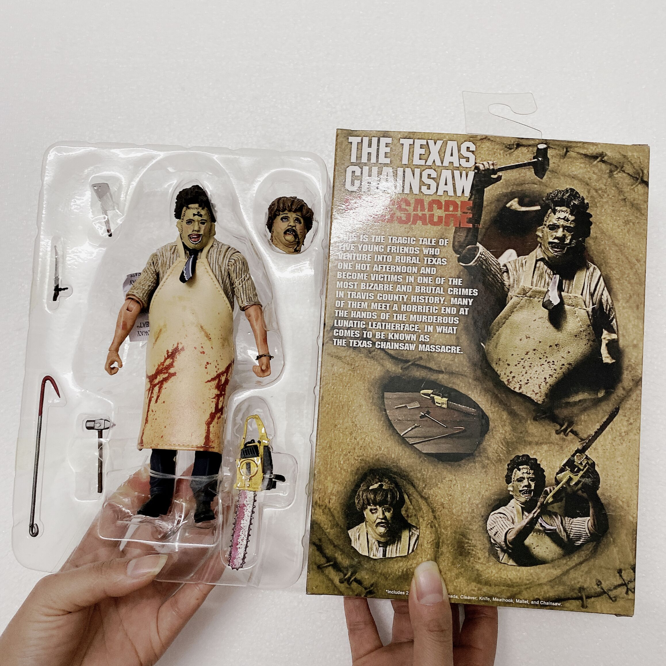 NECA 40th Anniversary Ultimate Leatherface Classic Terror Movie The Texas ChainsawAction Figure Collectable Model Toy