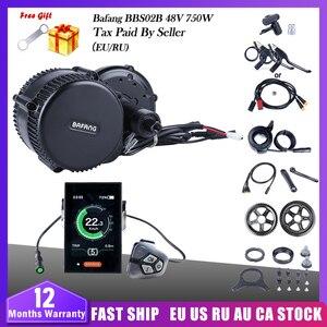 Image 1 - 48V 750W Bafang BBS02B orta tahrik motoru Ebike elektrikli bisiklet dönüşüm kitleri 68 73mm e bisiklet bisiklet 8FUN güçlü motor son sürümü