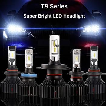 1 par Potente 9-32V T8 ¿Es H7 H11 9006 LED Faros delanteros...