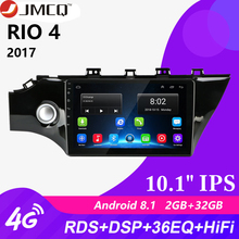 10.1 2 Din Android Car Radio GPS Navigation Auto Audio Stereo Player For KIA RIO 4 2016 - 2019 FM/AM RDS Head Unit with Frame цена