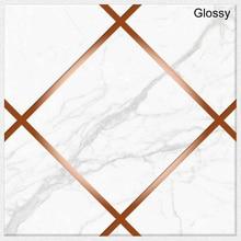 20*20CM 10PCS Geometric Tile Sticker Waterproof Wear-Resistant Marble Matte Crystal Wall Stickers