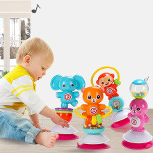 Baby Rattles Toys Newborn animal Rotate Suction cup dining table rattles Baby Toys 0-12 Months mobile baby Educational Toys
