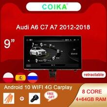 8 Nhân Android 10 Hệ Thống Đa Phương Tiện Stereo Cho Xe Audi A6 C7 A7 2012 2018 WIFI 4G 4 + 64GB RAM Carplay IPS Màn Hình Cảm Ứng Navi