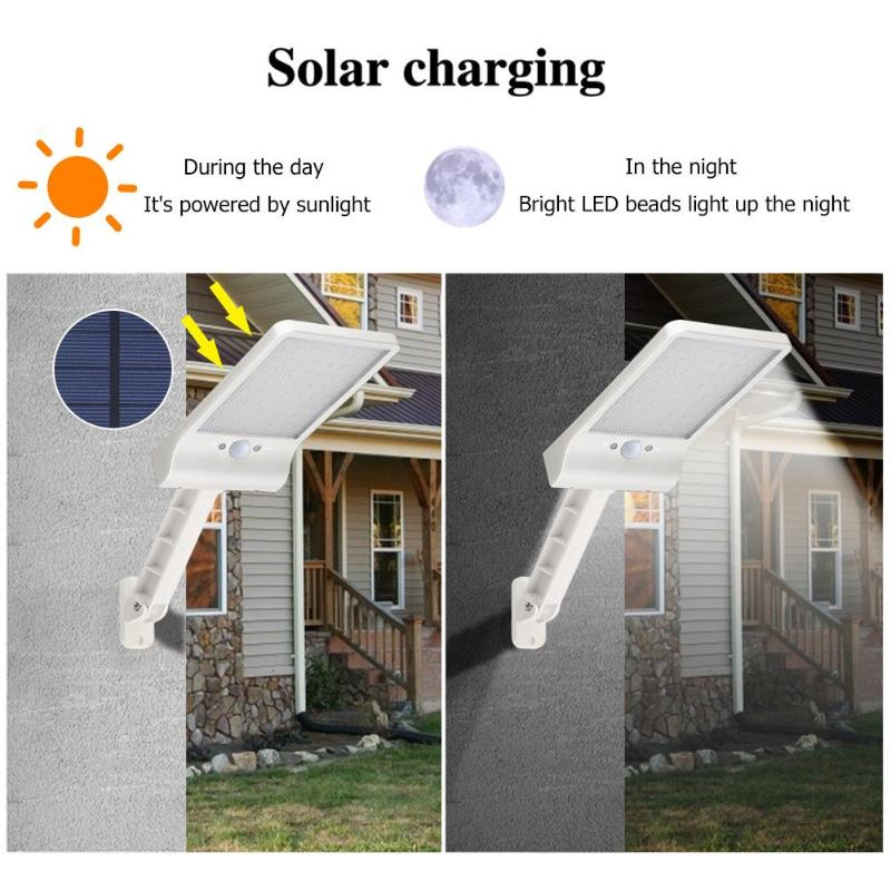 lowest price QLTEG 48 led Solar Light 450LM PIR Motion Sensor Ip65 Waterproof Outdoor street wall garden lamp rotable Remote Control