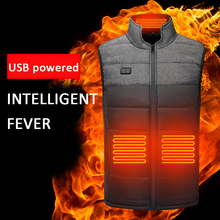 Graphene Electric Heating Vest Men And Women Can Wear Heating Vest USB Heating Vest Heating Everywhere Vest Jacket cheap CN(Origin) Fits true to size take your normal size Cotton Thermal Softshell Heated Jacket heated jacket clothing coat winter jacket heating vest