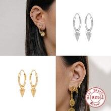 Hoop-Earrings Jewel BOAKO Luxury Cone-Pendant Loops Spike-Huggies 925-Sterling-Silver