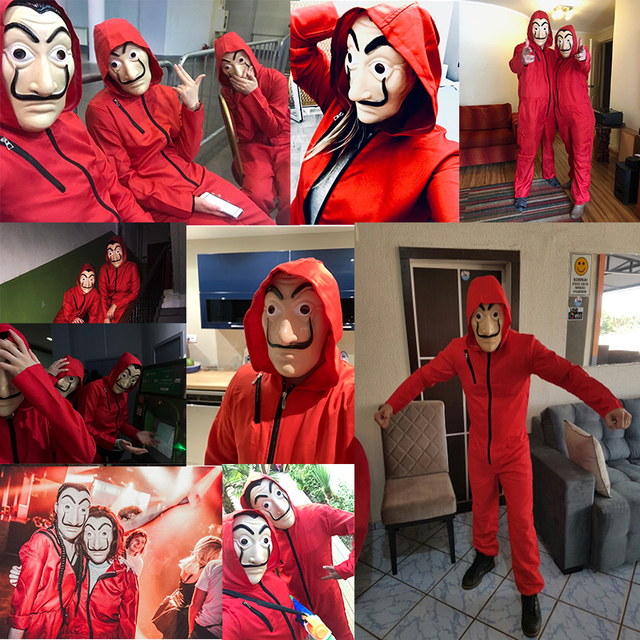 Kid Salvador Dali Movie The House of Paper La Casa De Papel Cosplay Party Halloween Mask Money Heist Costume & Face Mask 4