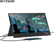 BlitzWolf BW-PCM6 HD LCD Monitor 17.3Inch touch Panel usb type c HDMI-compatible pour LaptopPphone pour xbox/ ps4 /switch Gaming Monitor 1080P HD Portable LCD Computer Monitors
