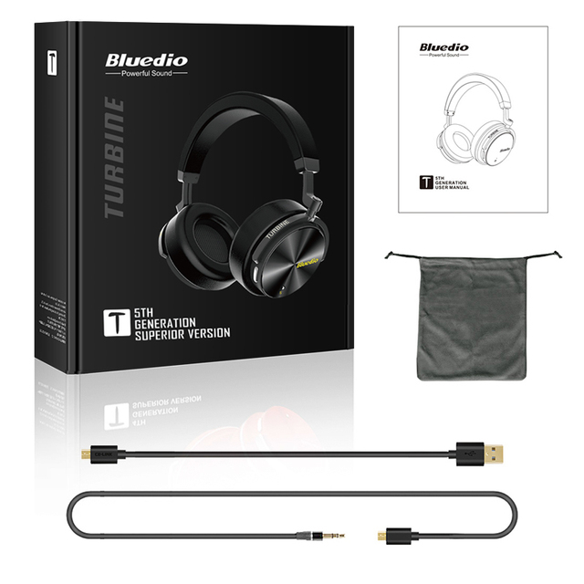 Bluedio T5 ANC Bluetooth Headphones with microphone 5
