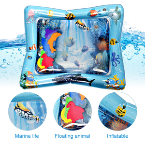 Image 3 - Baby Inflatable Water Play Mat Infant Summer Beach Water Mat Toddler Fun Activity Play Toys for Sensory Stimulation Motor Skills