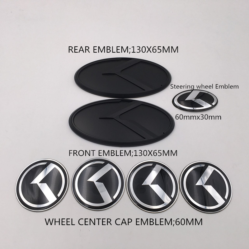 Черное углеродное волокно K наклейка с логотипом полета комплект капота багажника колпачок колеса звуковой значок для KIA 2014-2017 Forte Koup/ K3 Koup/ ...