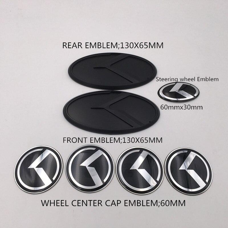 Черное углеродное волокно K наклейка с логотипом полета комплект капота багажника колпачок колеса звуковой значок для KIA 2014-2017 Forte Koup/ K3 Koup/ Cerato Koup