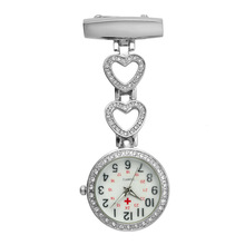 Pocket Watch Medical-Doctor Quartz-Clock Pendant-Hang Heart Clip-On Women Fashion